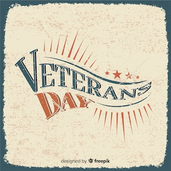 Retro lettering veterans day