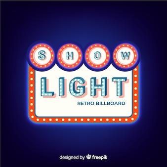 Retro light billboard