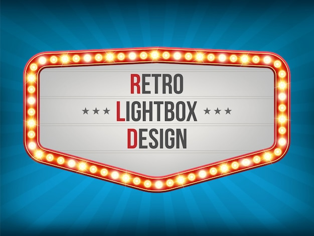 Retro light bulb frame, banner decoration curtains