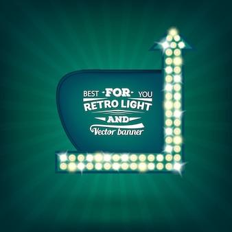 Retro light bulb speech bubble banner