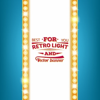 Retro light bulb speech bubble banner.