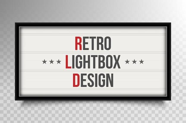 Retro lightbox theatre.