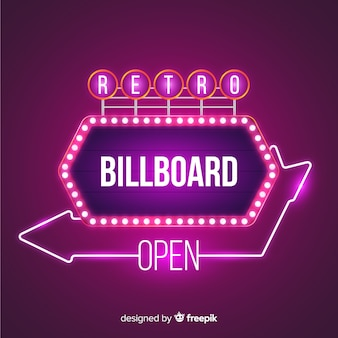 Retro lights billboard