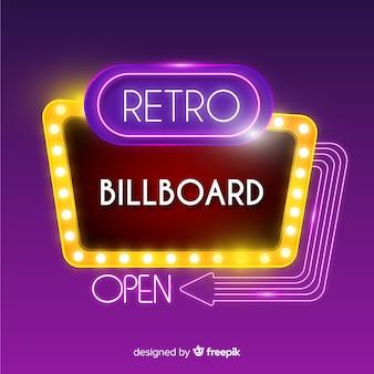 Retro lights billboard