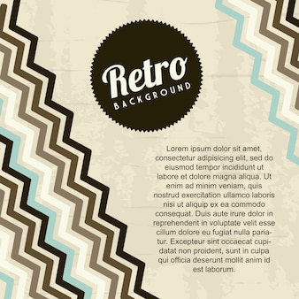 Retro lines illustration over grunge background vector