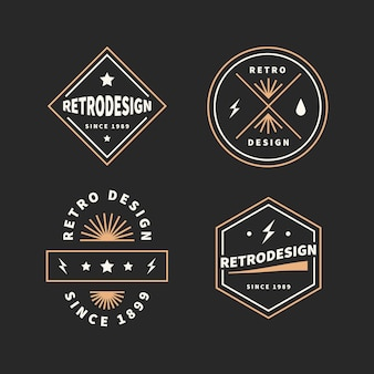 Retro logo collection concept