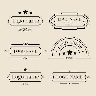 レトロなロゴのコレクション