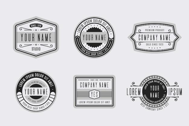 Retro logo collection