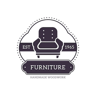 Retro logo for furniture