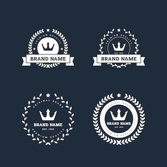 レトロなロゴデザインテンプレートセット