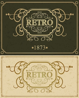 Retro luxurious border