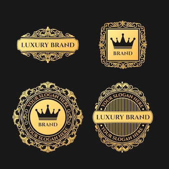 Retro luxury logo collection
