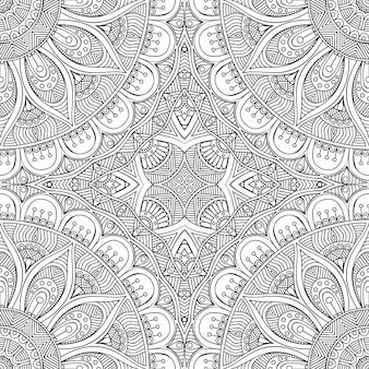 Retro mandala background design