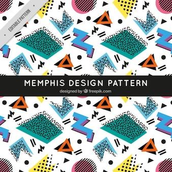 Retro memphis pattern