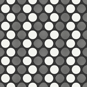 Retro memphis seamless patterns. abstract jumble textures. circle, round, dot.