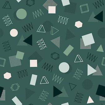 Retro memphis seamless patterns