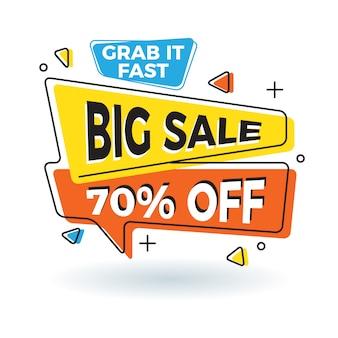 Retro memphis style big sale banner