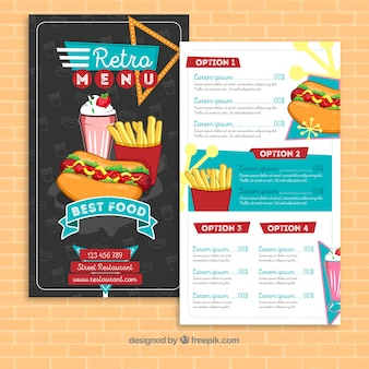 Retro menu template