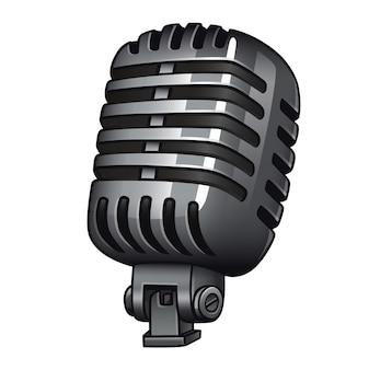 Retro microphone isolatedwhite