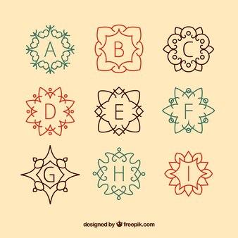 Retro monogram collection