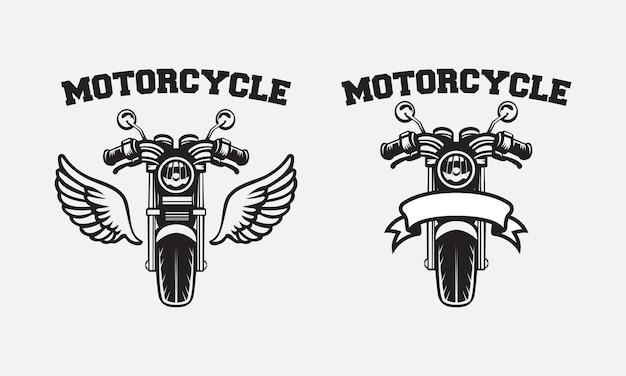 レトロなオートバイのバッジのロゴのデザイン