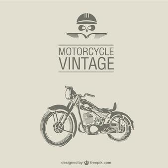 レトロなオートバイのベクトル