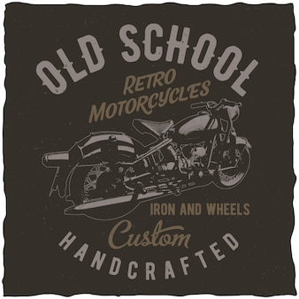 Retro motorcycles poster