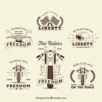 Retro motos insignias collection