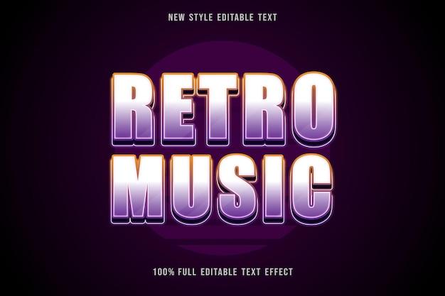 Retro music editable text effect neon style