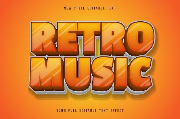 Retro music editable text effect orange gradation