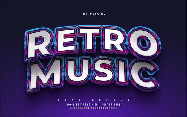 Retro music editable text style effect