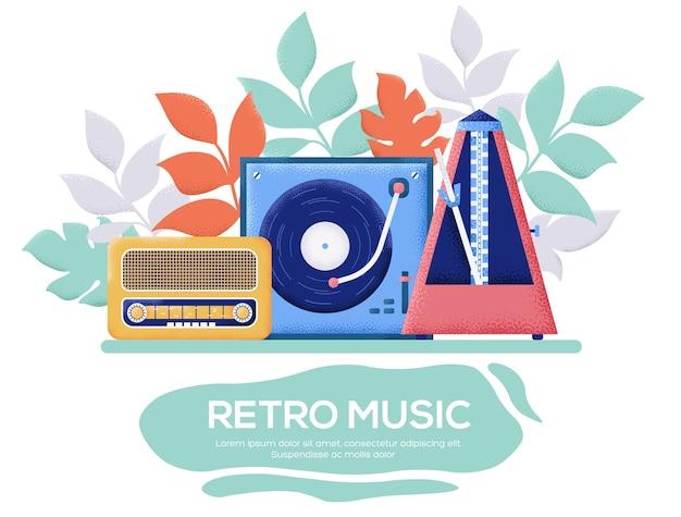 Retro music landing page