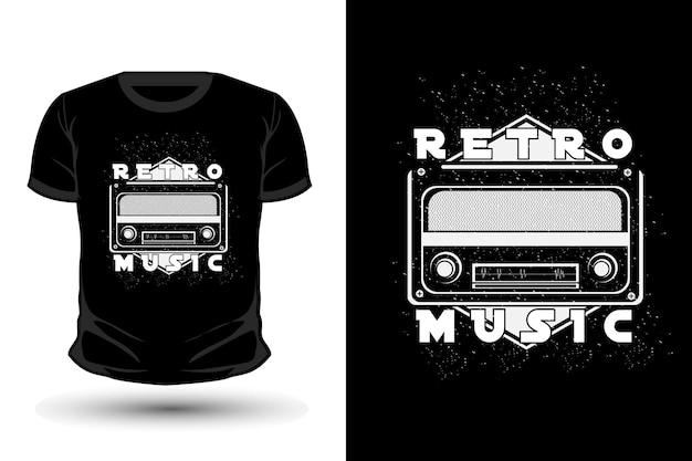 Retro music merchandise silhouette t shirt design
