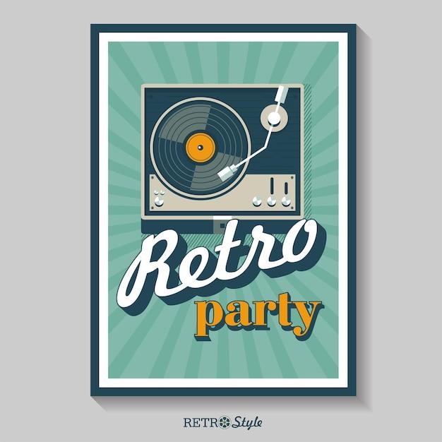 레트로 음악. 비닐 레코드 플레이어. 로고, 아이콘입니다.