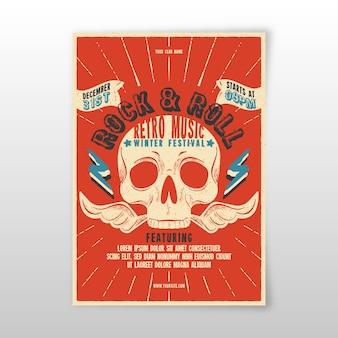 Retro music poster template