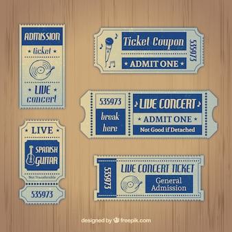 Retro music tickets