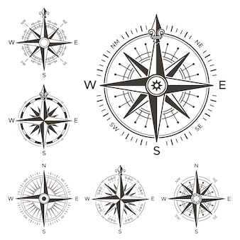 Retro nautical compass