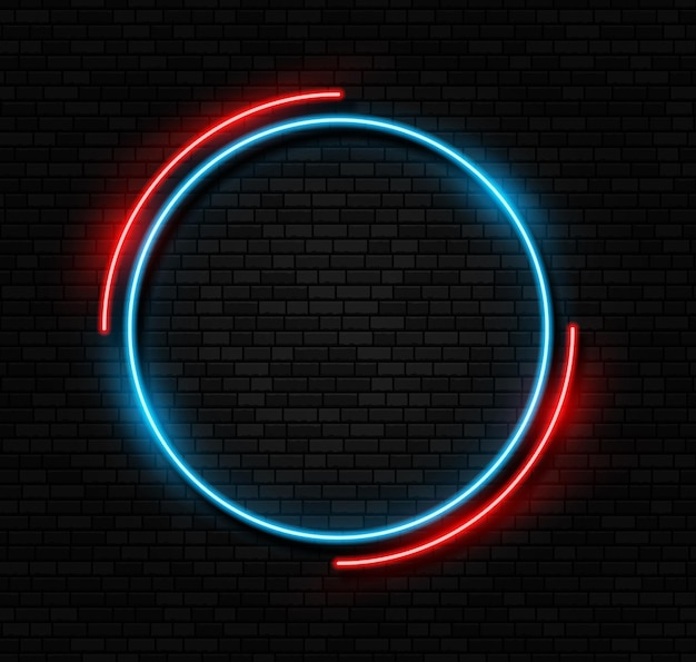 Retro neon sign led or halogen lamp border