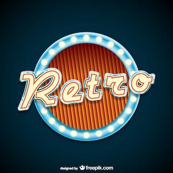 Retro neon sign
