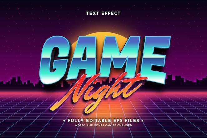 Retro neon text effect design
