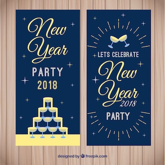 Retro new year banns 2018