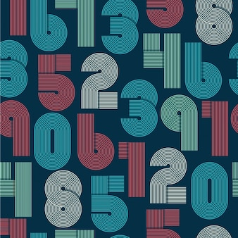 Retro numbers background