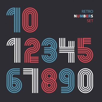 Retro numbers made with lines