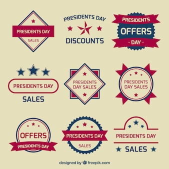 Retro offers badges presidents day