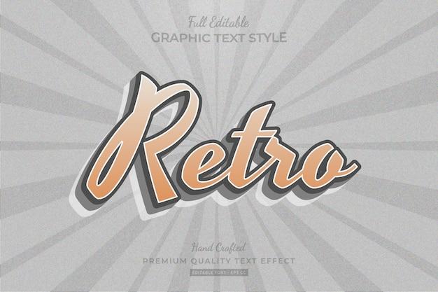Retro old editable premium text effect