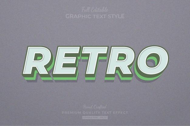 레트로 올드 편집 가능한 텍스트 효과 글꼴 스타일