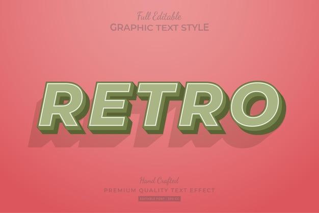 Retro old editable text effect font style Premium Vector