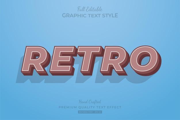 Ретро стиль шрифта с эффектом старого редактируемого текста