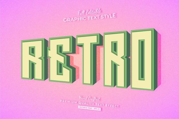 Ретро старый винтаж 3d редактируемый текстовый эффект стиль шрифта