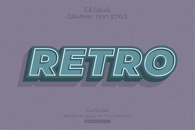 Ретро старый винтаж редактируемый текстовый эффект стиль шрифта